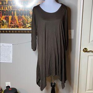 NWOT. Brown top/dress